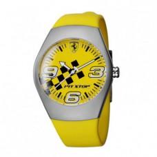 *Жёлтые наручные часы Ferrari Pit Stop Yellow