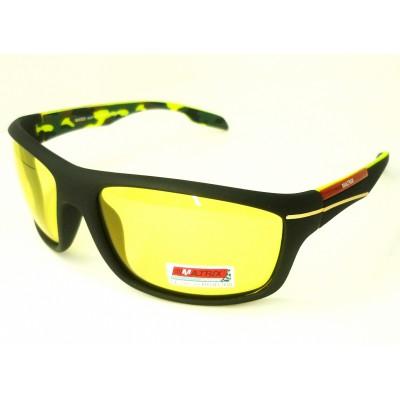 Жёлтые очки для водителя от MATRIX (в футляре)