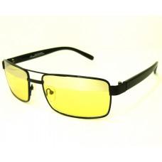 *Жёлтые очки для водителя CRISLI в чёрной металлической оправе