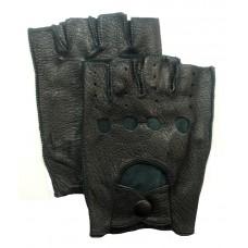 Перчатки для автомобилиста (без пальцев) чёрные