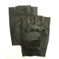 Мужские перчатки для автомобилиста (без пальцев) тёмно-коричневые