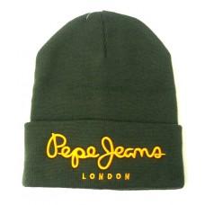Модная молодежная зимняя мужская шапка Pepe Jeans LONDON