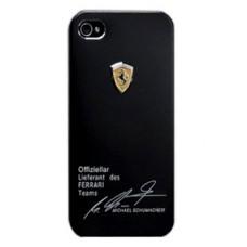 Чехол накладка для iPhone 5/5S Ferrari - Michael Shumaher, чёрный