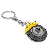 Оригинальный брелок (тормозной диск и суппорт) Porsche, жёлтый