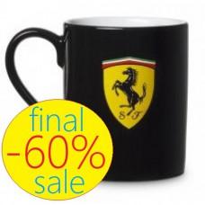 Фирменная кружка с логотипом Ferrari, чёрная