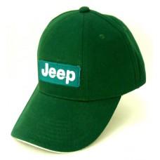 Зеленая кепка с логотипом Jeep