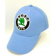 Голубая бейсболка Skoda