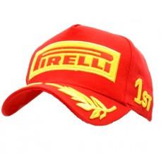 Бейсболка со спортивной символикой Формула 1 Pirelli, красная