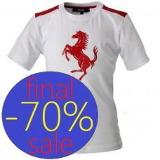 Брендовая детская футболка Ferrari с принтом Лошадь