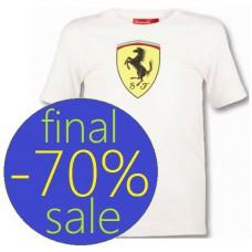 Детская футболка Ferrari Big Scudetto белого цвета