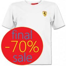 Белая детская футболка Ferrari