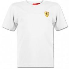 Белая футболка Ferrari для малыша