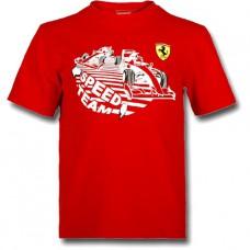 Брендовая футболка с машинкой Ferrari для малыша