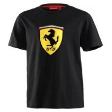 Чёрная брендовая футболка Ferrari для малыша