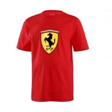 Красная брендовая футболка Ferrari для малыша