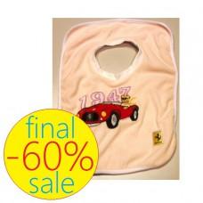 Детский розовый слюнявчик Ferrari Vintage