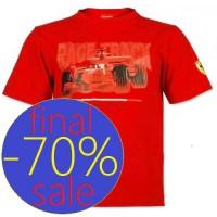 Прикольная футболка Ferrari на малыша, красная