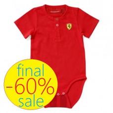 Прикольное боди Ferrari для новорожденного, красное