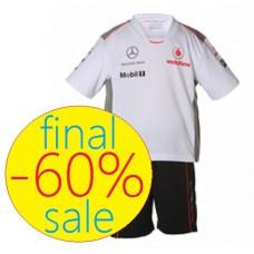 Футбольная форма команды McLaren Mercedes для мальчика 3-4