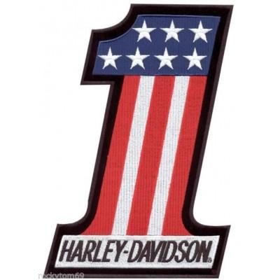 Нашивка Harley Davidson в виде цифры 1