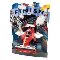 Объемная открытка Formula 1 - Finish
