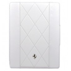 Белый кожаный чехолFerrari Maranello для iPad 2 и 3