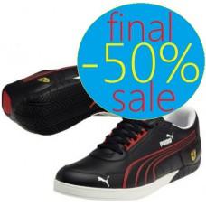 Чёрные кроссовки 3-0 lo SF black-rosso corsa-white Ferrari
