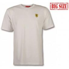 Белая мужская футболка Ferrari  Stripe Scudetto, большого размера