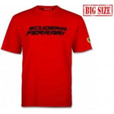 Брендовая мужская футболка Scuderia Ferrari большого размера