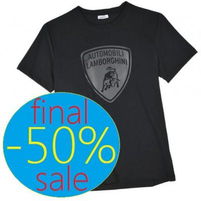 Мужская футболка Lamborghini, чёрного цвета