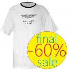 Белая мужская футболка Aston Martin Racing