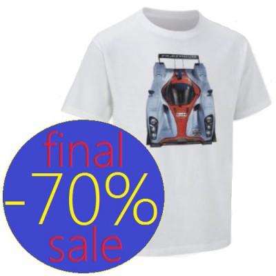 Мужская футболка с принтом Aston Martin белого цвета