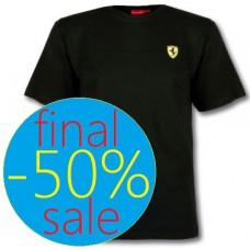 Мужская футболка Ferrari Stripe Scudetto, чёрная