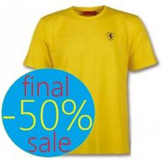 Брендовая мужская футболка Ferrari Stripe Scudetto, жёлтая