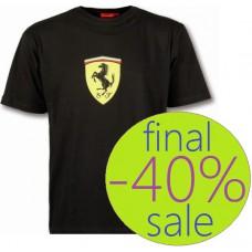 Чёрная мужская футболка Ferrari Big Scudetto