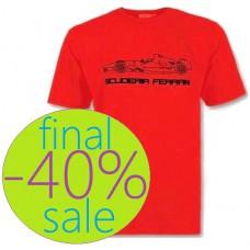 Красная мужская футболка Ferrari Outline Car