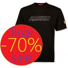 Мужская футболка с надписью Scuderia Ferrari, черного цвета