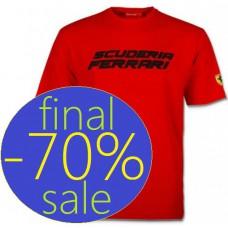 Мужская футболка с объемным принтом Scuderia Ferrari, красная