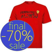 Мужская футболка Ferrari, Fernando Alonso Team
