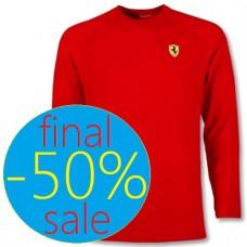 Красная мужская футболка Ferrari с длинным рукавом
