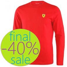 Мужская футболка с длинным рукавом Scudetto Bands Ferrari, красная