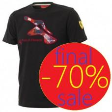 Чёрная мужская футболка Ferrari Pista di Fiorano