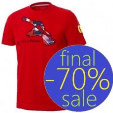 Красная мужская футболка Ferrari Pista di Fiorano