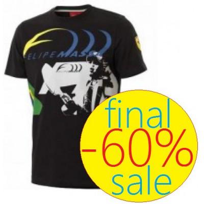 Чёрная мужская футболка Ferrari, Felipe Massa