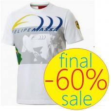 Белая мужская футболка Ferrari, Felipe Massa