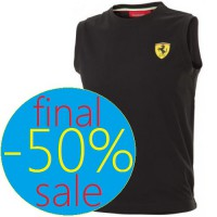 Спортивная мужская майка Ferrari Tank Top, чёрная