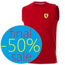 Спортивная мужская майка Ferrari Tank Top, красная