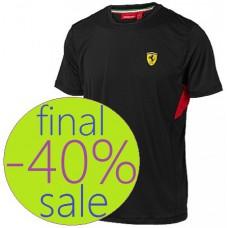 Спортивная мужская футболка Ferrari Perfomance, чёрная