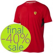 Спортивная мужская футболка Ferrari Perfomance, красная