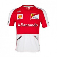 *Командная мужская футболка Ferrari Replica F1